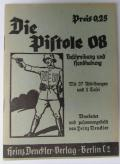WH instruction-booklet 'Die Pistole 08'