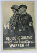 Waffen-SS related post-card