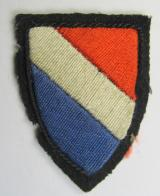 Dutch-produced, early-pattern armshield