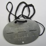 "Aluminium-based-, WH (LW-) ie. 'Fallschirmjäger'-related ID-disc, bearing the clearly stamped- and/or: 'coded' unit-designation that reads: '63125' (and as such belonging to a soldier ie. NCO who served within the: '1./Fsch.Jg.Rgt.1 ""Stendal"")"